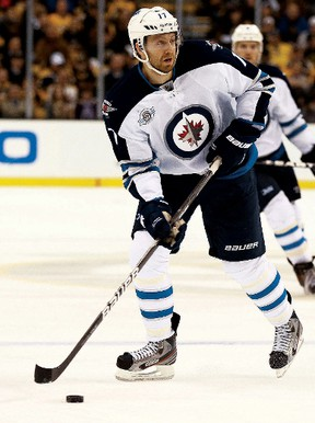 Winkler native Eric Fehr was told by the Winnipeg Jets he won't be offered a qualifying offer prior to becoming a free agent on July 1. (AFP-GETTY IMAGES FILES)