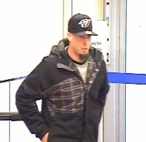 Ottawa cops released this surveillance camera image of a suspect in a Jan. 17 bank robbery at a Bank St. Bank of Montreal.