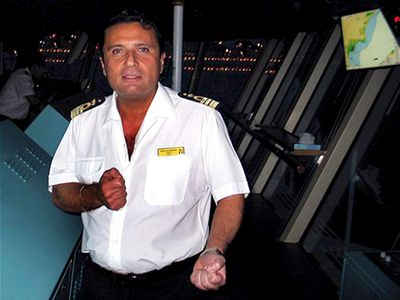 Captain Francesco Schettino is seen in this undated file photo released on January 18, 2012. REUTERS
