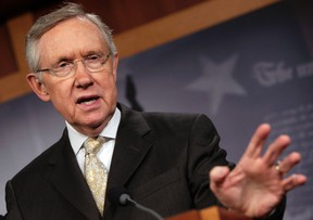 U.S. Senate Majority Leader Harry Reid (D-NV) speaks during his news conference on the payroll tax cut extension on Capitol Hill in Washington December 23, 2011. (REUTERS/Yuri Gripas)