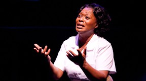 Arlene Duncan plays laundress Caroline Thibodeaux in Caroline, or Change, about a family in the Louisiana of 1963.