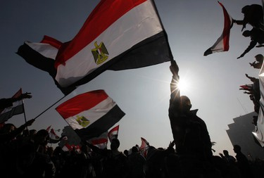 Demonstrators take part in a protest marking the first anniversary of Egypt's uprising at Tahrir square in Cairo January 25, 2012. (REUTERS/ Mohamed Abd El-Ghany)