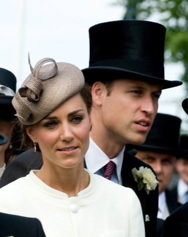 Catherine Middleton, Duchess of Cambridge and Prince William at The Derby Stakes at Epsom Racecourse in Surrey, England. (Anwar Hussein Collection/WENN.com)