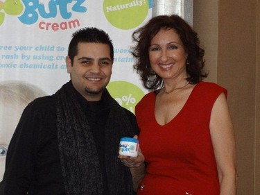 Majda Ficko brought her Baby Butz cream to Hollywood and met celebrities like Michael Costrella. But she doesn't know the names of seven of the stars she was snapped with. Head over to the Baby Butz Facebook page to win free cream.(HANDOUT)