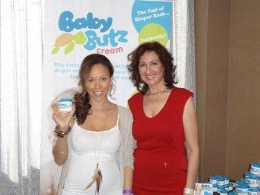 Majda Ficko brought her Baby Butz cream to Hollywood and met celebrities like Mary Campbell. But she doesn't know the names of seven of the stars she was snapped with. Head over to the Baby Butz Facebook page to win free cream.(HANDOUT)