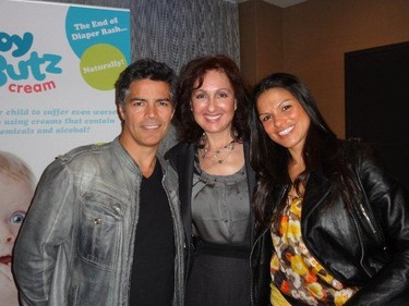 Majda Ficko brought her Baby Butz cream to Hollywood and met celebrities like Esai Morales. But she doesn't know the names of seven of the stars she was snapped with. Head over to the Baby Butz Facebook page to win free cream. (HANDOUT)
