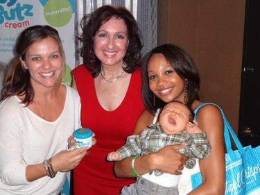 Majda Ficko brought her Baby Butz cream to Hollywood and met celebrities like Erica Hubbard. But she doesn't know the names of seven of the stars she was snapped with. Head over to the Baby Butz Facebook page to win free cream. (HANDOUT)