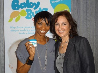 Majda Ficko brought her Baby Butz cream to Hollywood and met celebrities like Lisa Loeb and Columbus Short. But she doesn't know the names of seven of the stars she was snapped with --�like this one!  --�so if you do, head over to the Baby Butz Facebook page to win free cream.(HANDOUT)