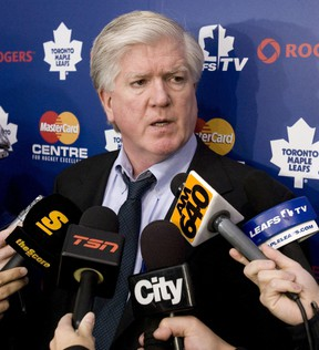 Maple Leafs general manager Brian Burke. (ALEX UROSEVIC/QMI Agency file photo)