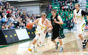 Jordan Baker says the Bears' loss at the hands of the Calgary Dinos last weeekend was a wakeup call. (Uwe Welz, courtesy University of Alberta)
