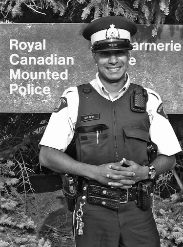 RCMP Constable Sheldon Shah was one of the  two Mounties shot on Tuesday February 7, 2012 southeast of Killam, Alta., while on duty. (Photo courtesy The Community Press)