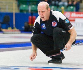 Kevin Martin lost Sunday's semfinal of the Boston Pizza Cup to Calgary's Brock Virtue (Vince Burke, QMI Agency).