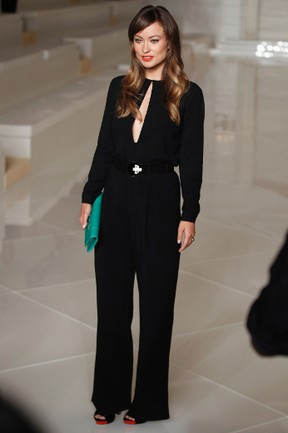 Actress Olivia Wilde poses for a photograph before watching the Ralph Lauren Spring/Summer 2012 collection during New York Fashion Week, Sept. 15, 2011.  (REUTERS/Lucas Jackson)