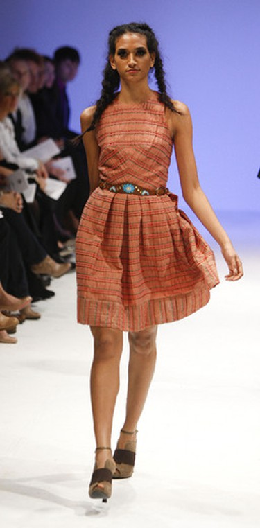 17. Vintage styles of the '40s: Demure tea dresses, 3/4-length sleeves and circle skirts. Seen at: LOVAS spring/summer 2012 collection during Toronto Fashion Week. (Mark O'Neill/QMI AGENCY)