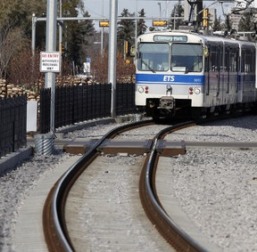 An Edmonton Transit System (ETS) Light Rail Transit (LRT) train. FILE PHOTO