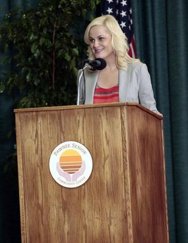 Amy Poehler playing Leslie Knope of Parks and Recreation. (NBCUniversal, Inc.)