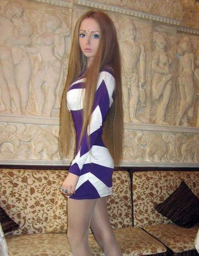 Ukrainian model Valeria Lukyanova is living the dream of being a real-life Barbie doll. (Facebook)