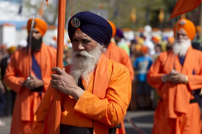 Sikhs participated in the Nagar Kirtan parade in the Mill Woods neighbourhood in Edmonton, Alberta, on May 20, 2012. The parade, now in its 14th year, celebrates the religious festival of Vaisakhi, which recognizes the baptism of all Sikhs into the Khalsa, with began more than 300 years ago. IAN KUCERAK/EDMONTON SUN/QMI AGENCY