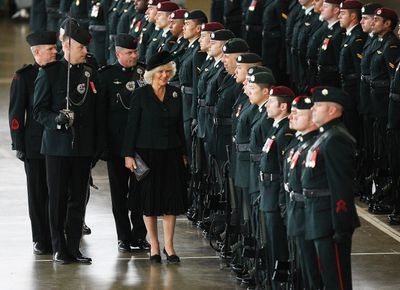 Her Royal Highness The Duchess of Cornwall inspects the troops of the Queen's Own Rifles.  Craig Robertson/Toronto Sun