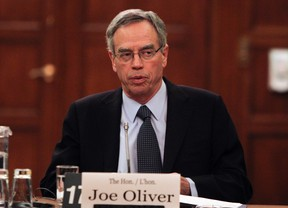 Joe Oliver, Minister of Natural Resources at Parliament Hill in Ottawa March 27, 2012. (QMI Agency/Andre Forget)