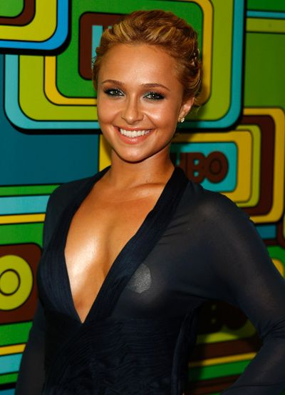 Actress Hayden Panettiere wore this revealing outfit at the Golden Globes in Beverly Hills, Calif., January 16, 2011. REUTERS/Lucy Nicholson