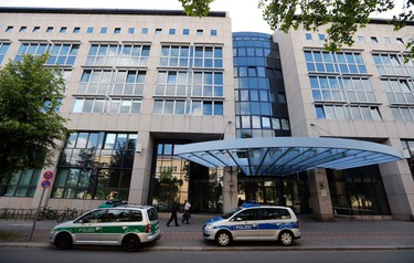 A general view shows the State Office of Criminal Investigations where police is questioning Canadian murder suspect Luka Rocco Magnotta in Berlin, June 4, 2012.   REUTERS/Fabrizio Bensch