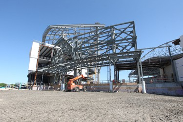 Work continues on Investors Group Field at The University of Manitoba.  Monday, June 4, 2012.  Chris Procaylo - QMI Agency