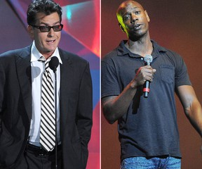 Charlie Sheen and Dave Chappelle (AFP, WENN.COM)