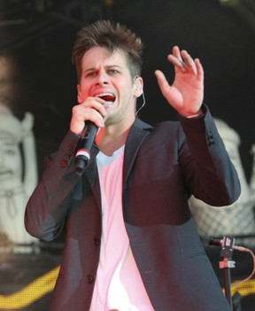 Mark Foster of ' Foster The People'  performing in Toronto tonight, June 19, 2012 at Downsview Park. (Stan Behal/QMI Agency)