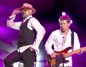 Tragically Hip frontman Gord Downie and bassist Gord Sinclair performing at Ottawa Bluesfest.