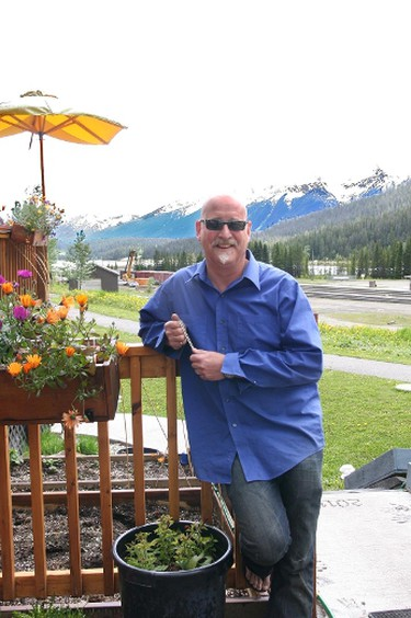 Chef Sean Cunningham in front of his Truffle Pigs Bistro in Field, B.C. TRACY McLAUGHLIN PHOTO
