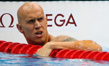 Men's swimming 100-metre freestyle: Brent Hayden placed third in his heat and advanced to the semifinals at 2:30 p.m. ET REUTERS/David Gray