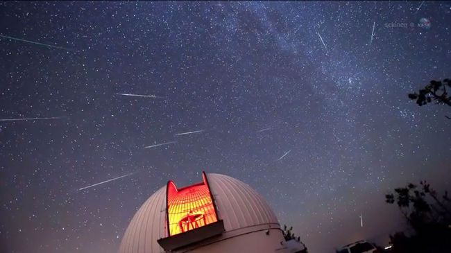 Perseid meteor shower. (NASA VIDEO SCREENSHOT)