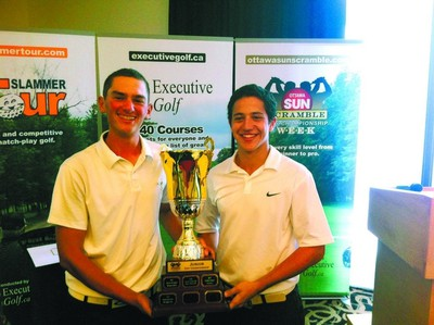 Isaac Lieff and Lewis Miller (Junior Open champs)