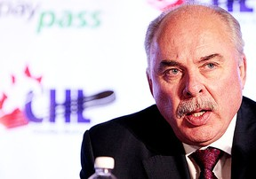 CHL president and commissioner of the OHL, David Branch, shown in this file photo, says he has yet to be contacted by officials of the fledgling CHLPA. (QMI Agency.)