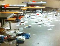 A photograph obtained by the London Free Press shows the aftermath of a recent melee at the Elgin Middlesex Detention Centre on Exeter Road in London.