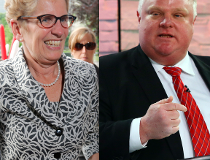 Kathleen Wynne and Rob Ford