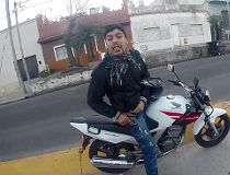 Motorcycle robbery gopro