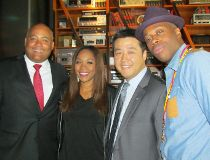 From left: Tourism, Culture and Sport Minister Michael Coteau, singer Divine Brown, Liberal MPP Han Dong and rapper/music producer Kardinal Offishall at the Drake Hotel on Friday, Sept. 19 2014. (ANTONELLA ARTUSO/Toronto Sun)