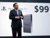 Shawn Layden, president and CEO of Sony Computer Entertainment America presents Sony PlayStation TV