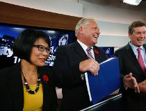 Olivia Chow, John Tory and Doug Ford