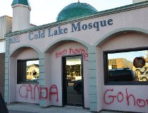 cold lake mosque vandalized