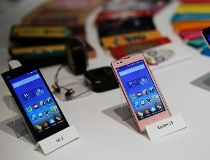 Three models of China's Xiaomi Mi phones