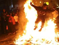 San Francisco Giants fans take to streets after World Series win