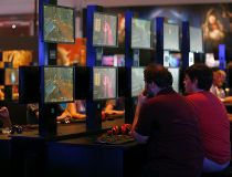 "Visitors play the ""World of Warcraft: Warlords of Draenor"""