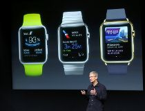 Apple CEO Tim Cook with Apple Watch apps