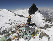 Mount Everest waste AFP