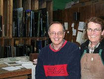 David and Wanda Pike, owners of European Art Glass, who will likely have their business bought-out by the city when improvements to Marion and Archibald Street begin.