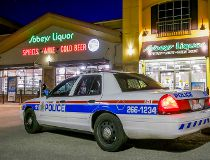 Sunday evening booze store robberies