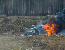 Russian military helicopter crash